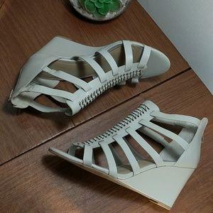 American Rag Woven Wedge Sandals Grey, sz 10